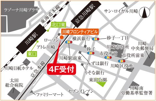 川崎アントレサロン地図