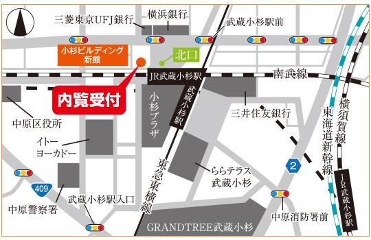 武蔵小杉アントレサロン地図