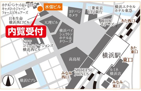 横浜アントレサロン地図