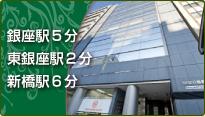 銀座駅5分 東銀座駅2分 新橋駅6分